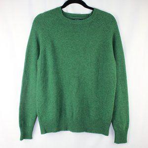 J Crew 100% Lambswool green Crewneck Sweater